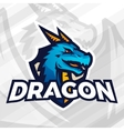 Dragon on shield sport mascot concept Football or