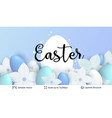 easter background template vector image