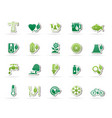 ecology environment and nature icons 4 vector image vector image
