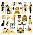 egypt symbols decorative icons set vector image