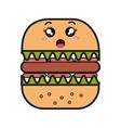 fast food kawaii style vector image vector image
