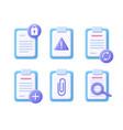 file document concept - realistic icon set 3d vector image