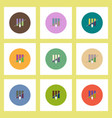flat icons set of half column chart and arrow vector image vector image