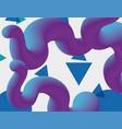 futuristic liquid worm poster vector image
