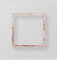 gold frame with a grunge texture vector image vector image