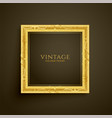 golden vintage luxury frame design vector image