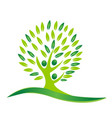 green tree peace and unity logo vector image vector image