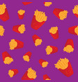 hand drawn french fries fast food seamless pattern vector image