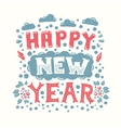 Happy New Year Vintage Poster vector image vector image