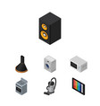 isometric appliance set of air extractor vector image vector image