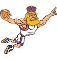 king sports logo mascot basketball vector image vector image