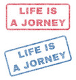 life is a jorney textile stamps vector image vector image
