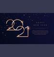 luxury 2021 happy new year background golden vector image vector image