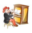 man playing the piano vector image