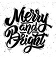 merry and bright christmas theme vector image