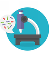 Microscope vector image vector image