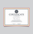 modern certificate template with mandala vector image