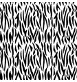 monohcrome zebra seamless pattern abstract vector image vector image