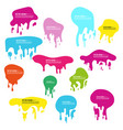 multicolored liquid shapeless frames vector image