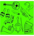 Music object in doodle vector image