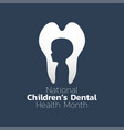 national children dental health month icon design vector image vector image