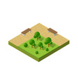 natural ecological landscape isometric icon city vector image vector image