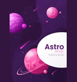 outer space futuristic cartoon background cover vector image vector image