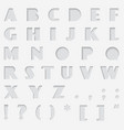 paper cut alphabet cutted from font vector image vector image