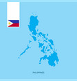 phillipines country map with flag over blue vector image