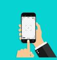 photo camera in screen phone hand take smartphone vector image