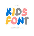 plasticine color alphabet cartoon and funny colour vector image