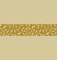 pretty tossed leaves border seamless repeating vector image