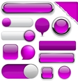 Purple high-detailed modern buttons vector | Price: 1 Credit (USD $1)