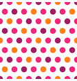 purple pink orange polka dots on white background vector image