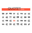 quotes collection - set web elements vector image vector image