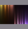 rainbow upside down abstract bar line background vector image vector image