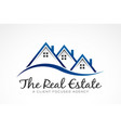 real estate selling houses logo vector image vector image
