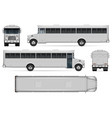 realistic correction bus vector image vector image