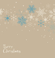 Retro simple Christmas card with snowflakes vector image vector image