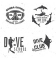 scuba diving club vector image vector image