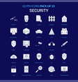 security white icon over blue background 25 icon vector image