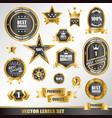 set gold labels vector image