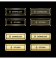 Set of the golden buttons vector image vector image