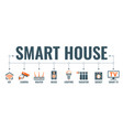 smart house and internet things vector image vector image