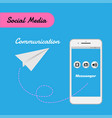 smart phone for social media for communication vector image