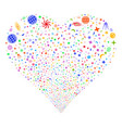 space symbols fireworks heart vector image vector image