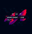 sports games channel page modern sport background vector image vector image