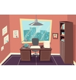 Stylish Business Working Office Room Background vector image vector image