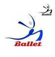 Stylized flowing ballet icon of a dancer vector image vector image