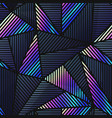 tech triangle seamless pattern vector image vector image